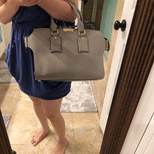 Burberry pebble leather satchel crossbody handbag
